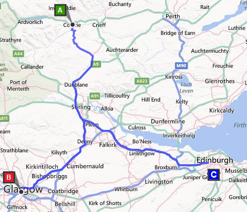Directions To Comrie